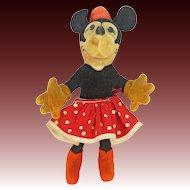 Vintage Original Steiff Minnie Mouse ca1930