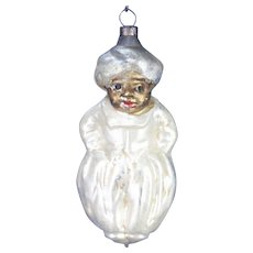 Antique German Blown Glass Genie Christmas Ornament ca1910