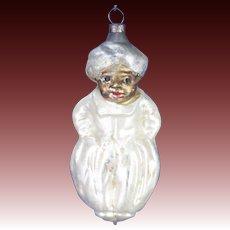 Antique German Blown Glass Genie Christmas Ornament ca1910