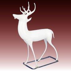 Antique German Milk Glass Reindeer ca1910