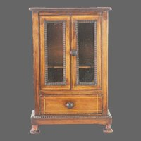 Antique Doll Size Curio Cabinet ca1910