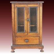 Antique Doll Size Curio Cabinet ca1910