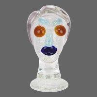 Vintage Italian Murano Art Glass Head Sculpture