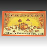 Antique Beistle Children's Halloween Party Book Decorations