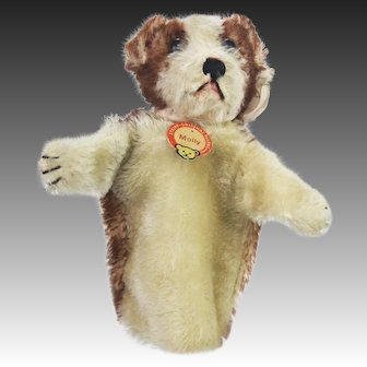 Vintage Steiff US Zone Molly Dog Hand Puppet