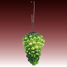 Antique German Green Glass Grape Kugel ca1900