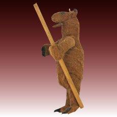 Antique German Rare Cotton Batting Circus Bear ca1910
