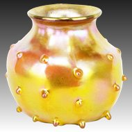 Antique Tiffany Studios Gold Favrile Vase ca1908
