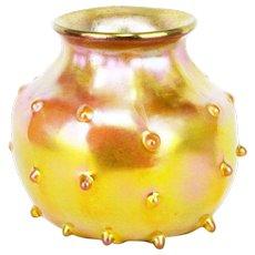Antique Tiffany Studios Gold Favrile Vase ca1908