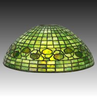 "Antique Tiffany Studios 16"" Acorn Lamp Shade ca1908"