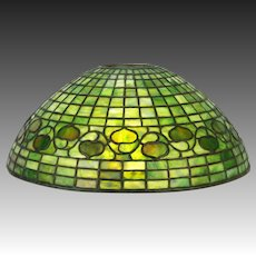 "Antique Tiffany Studios 16"" Acorn Lamp Shade ca1908"