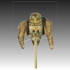 Vintage Mechanical Owl with Flapping Wings ca1930