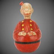 Antique German Large Schoenhut Happy Hooligan Roly Poly ca1910
