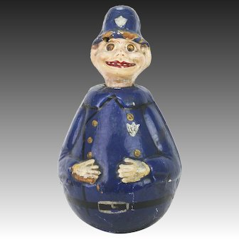 Antique German Schoenhut Police Man Roly Poly ca1910