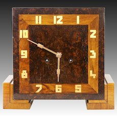 Vintage European Art Deco Mantel Clock ca1925