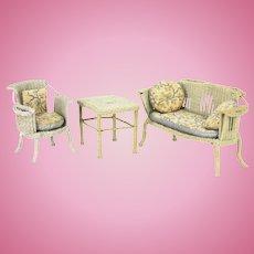 Vintage Wicker Doll Furniture ca1920