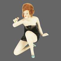 Antique German Bisque Bathing Lady ca1910