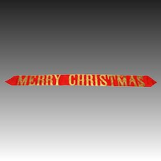 Antique German Dresden Letter Merry Christmas Banner ca1910