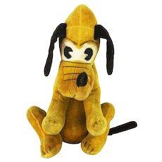 Vintage Walt Disney Pluto Velveteen Stuffed Animal ca1930