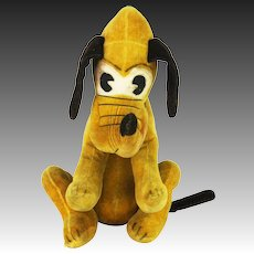 Vintage Walt Disney Pluto Velveteen Stuffed Animal ca1930