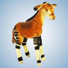 Vintage Steiff Okapi Zebra Giraffe ca1950