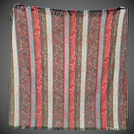 Antique Early Paisley Tapestry Fabric ca1880