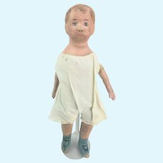 Antique Alabama Baby Oil Cloth Doll ca1880