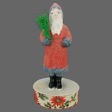 Antique German Santa Belsnickle on Candy Container Box ca1910