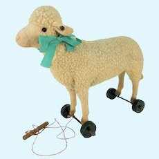 Antique Steiff Lamb / Sheep Pull Toy ca1915