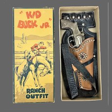 Vintage Kid Buck Jr. Ranch Outfit Cap Gun with Holster