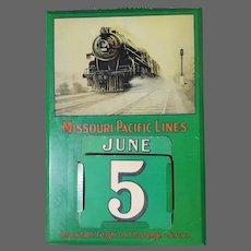 Rare Vintage Missouri Pacific Lines Railroad Perpetual Calendar ca1930