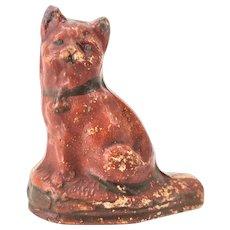 Antique Redware Cat Whistle ca1900