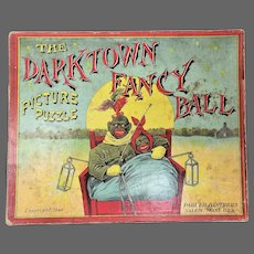 Antique Rare Parker Brothers Black Americana Picture Puzzle ca1894