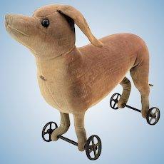 Antique Steiff Dachshund Dog Pull Toy ca1905