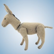 Antique Rare Early Jointed Steiff Donkey ca1905