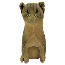 Antique Large Early Steiff Velveteen Cat ca1905