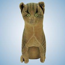 Antique Large Early Steiff Velveteen Cat ca1905