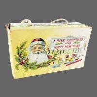 Antique Christmas Santa Cookie Candy Box ca1913