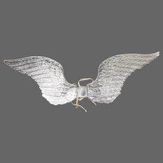 Vintage German Dresden Child Size Silver Angel Wings ca1930