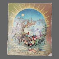 Antique McLoughlin Bros The Night Before Christmas Santa Book ca1890