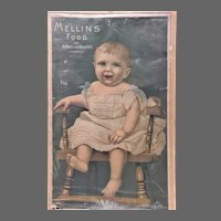 Antique Advertising Poster Sign Mellins Food for Infants and Invalids