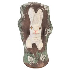 Antique German Paper Mache Easter Bunny Rabbit Candy Container ca1910