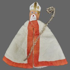 Vintage French Pere Noel Father Christmas Santa Ornament ca1930