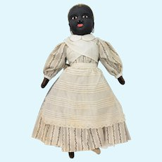 Antique Rare Beecher Stockinette Black Americana Cloth Doll