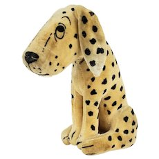 Dean's Ragbook Dismal Desmond Dalmatian Velveteen Dog ca1920