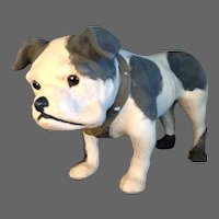 Antique Paper Mache Very Large English Bulldog Candy Container
