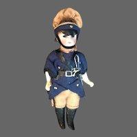 Antique German Bisque Head Soldier Doll