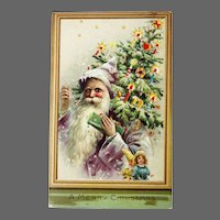 Antique Hold To The Light Santa Post Card ca1908