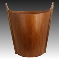 Norway Danish Modern P.S. Heggen Wood Wastepaper Basket