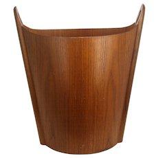 Norway Danish Modern P.S. Heggen Wood Wastepaper Basket